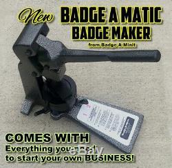 Nouveau Complete Badge A Minit Matic Minute 2 1/4 Bouton Maker Plus De 450 $ Au Détail