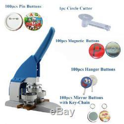 Nouveau Pro 2-1 / 4 58mm Badge Machine Maker Presse Appuyez Sur + Boutons Pin + Cutter