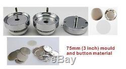 Pièces Matérielles Interchangeables De Badge Machine Fabricant De Bouton 75mm 3