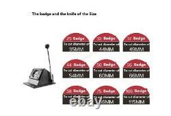 Pince Graphique Ronde Manuelle Die Cutter Badge Bouton Maker 35/44/54/66/70/86/115mm
