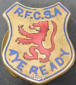 Rangers Fc Supporters Association Rare Insigne Maker Dowler B'ham 3586 Boutonnières