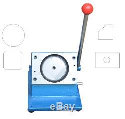 Round Manuel 58mm Graphique Poinçonneuse Cutter Badge / Button Maker