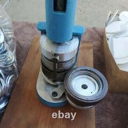 Sweetheart Bouton Badge Maker Press Machine W Circle Cutter + Pinbacks Fabriqués Aux États-unis