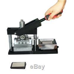 Top Qualité 17050mm Bouton Rectangle Maker Badge Machine Poinçonneuse + 300 Pièces