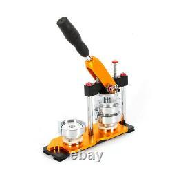 USA Button Maker 100 Pièces Badge Punch Press Machine 0.98 2.28 2.95 Nouveau