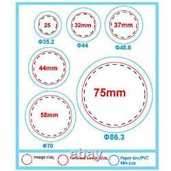 Vevor 1.73/44mm Machine D'insigne De Fabricant De Bouton + 1000 Pièces De Bouton+ Coupe-cercle
